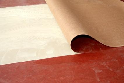 Referenz Linoleum PVC Boden verlegen 2 - Zuschnitt eines Linoleums im Wohnraum
